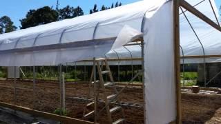 High Tunnel Installation (part 4) - FarmTek 30x72 - top fabric