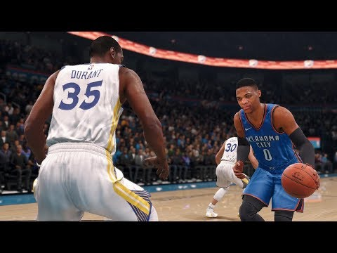 NBA Live 18 Game Of The Night - Golden State Warriors vs Oklahoma City Thunder NBA Live 18 Gameplay