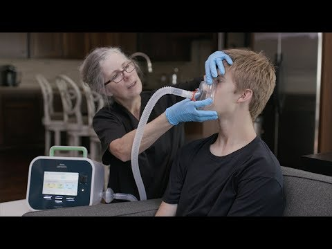 Giving a Cough Assist Treatment