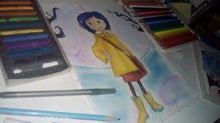 Coraline y la puerta secreta ( Speed Drawing ) - How to draw Coraline