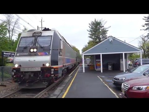 NJT 1621 comes and goes at Woodcliff Lake