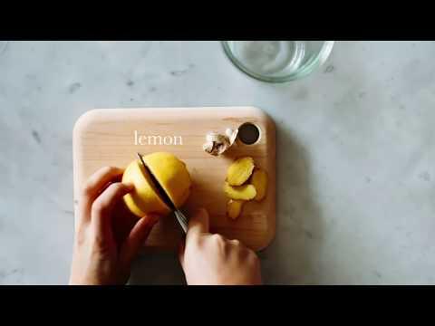 Simple Morning Ritual: How to make lemon ginger water
