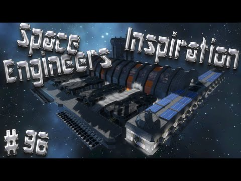 Space Engineers Inspiration - Episode 96: Crevalle Cargo Ship, Galveston Space port, & Obizuth