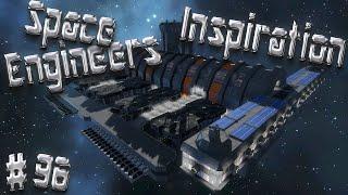 Space Engineers Inspiration - Episode 96: Crevalle Cargo Ship, Galveston Space port, & Obizuth
