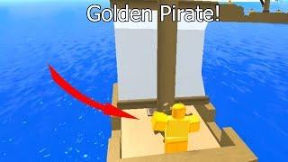 Raiding Ships As Golden Pirate In Pirate Simulator (Roblox)