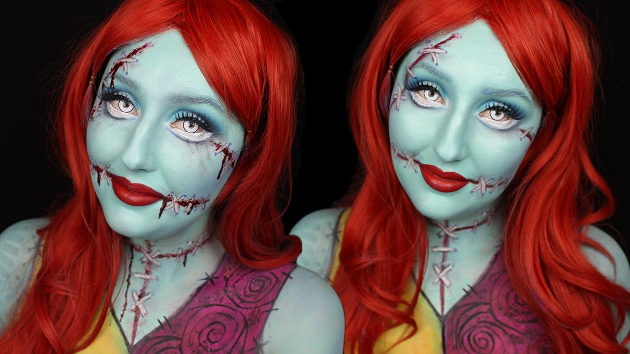 Christmas Halloween Makeup.Sally Halloween Makeup Tutorial Nightmare Before Christmas