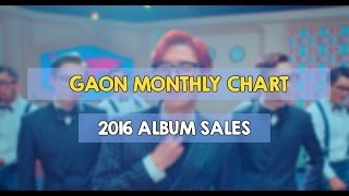 2016 gaon monthly chart: kpop album sales rankings