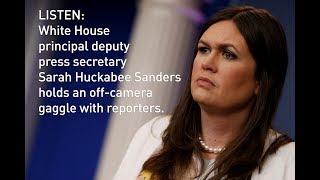 LISTEN: Sarah Huckabee Sanders holds White House news briefing thumbnail