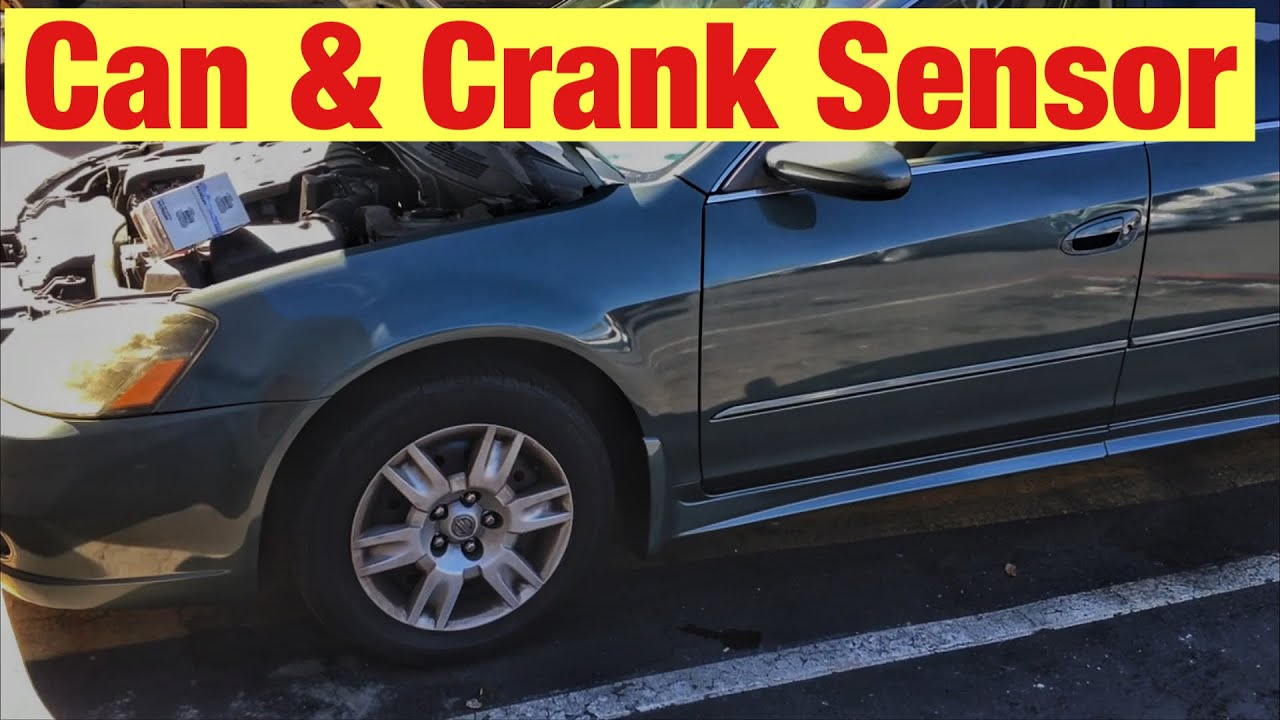 How to Replace the Cam and Crank Sensors on a 2002-2006 Nissan Altima with  a 2 5 L Engine