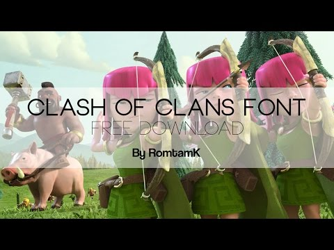 Clash of Clans Font - FREE DOWNLOAD