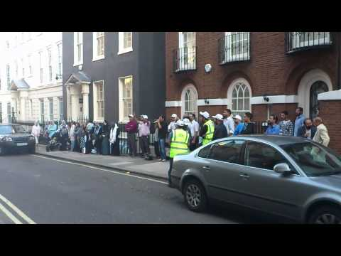 Vigil Outside The Embassy Of Myanmar, London, UK (Video 3)