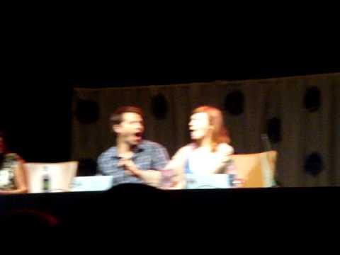 Misha Collins, Julie McNiven, Samantha Ferris DragonCon 2011