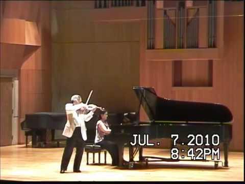 Chin Kim violin-Waxman-Carmen-Fantasy Won Min Kim piano.mpg