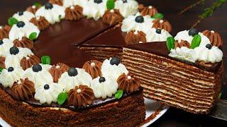 Вкуснейший Шоколадный МЕДОВИК Торт СПАРТАК Домашний Торт Рецепт Кулинарим с Таней