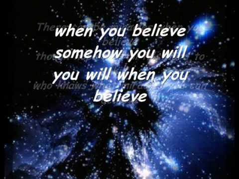 Whitney Houston ft. Mariah Carey - When you belive...
