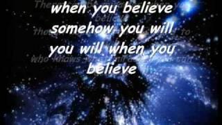Whitney Houston ft. Mariah Carey - When you belive Lycris