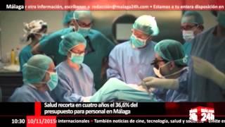 Salud recorta en cuatro años el 36,6% del presupuesto para personal en Málaga