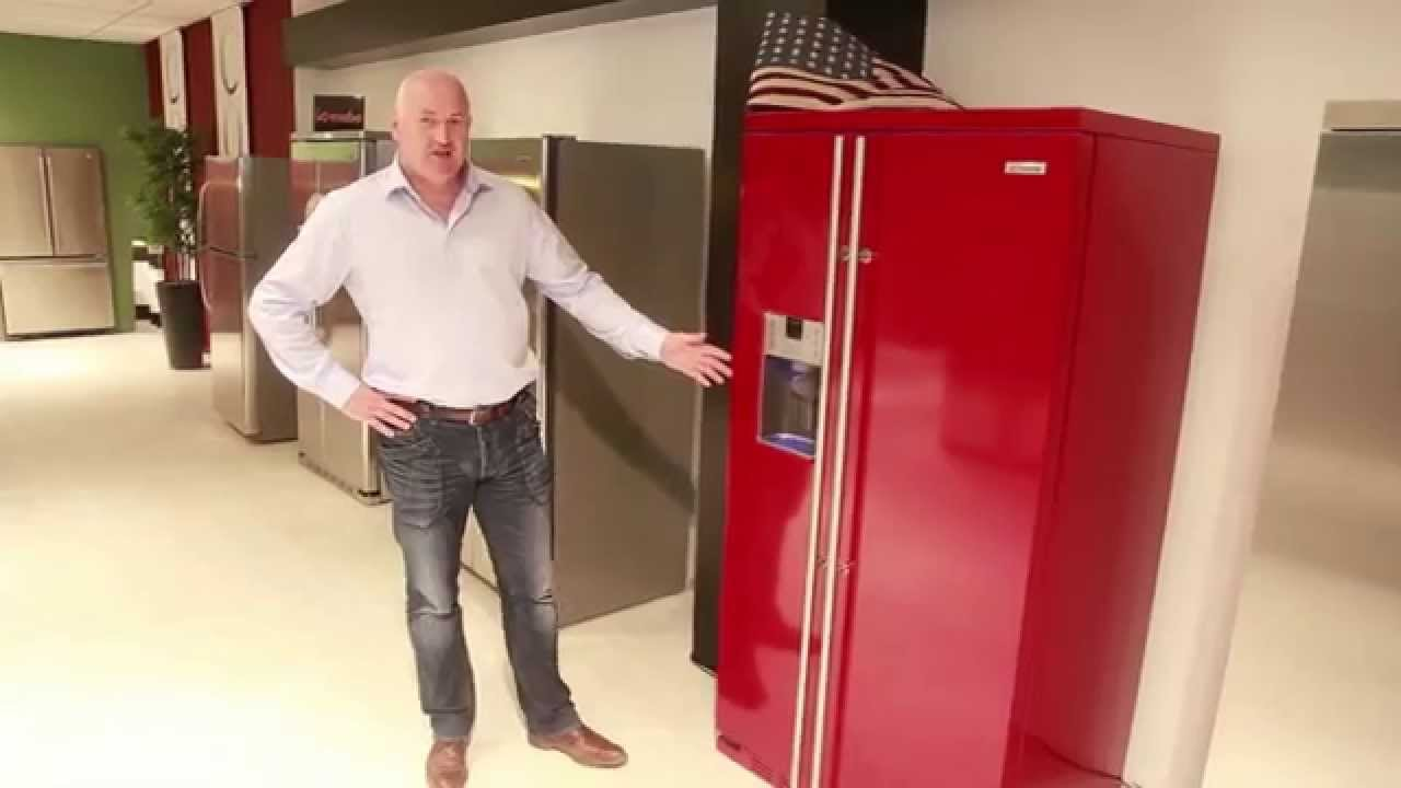 Kühlschrank Rot : General electric io mabe side by side mit eisspender rot