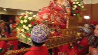 rajasthani wedding-bride on a palki being taken to the mandap