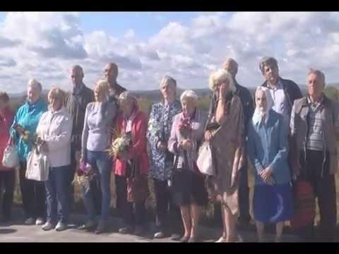 Митинг памяти переселенных немцев в Кушву