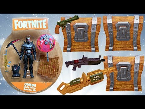 More FORTNITE Loot Chests + Omega Action Figure With Wet Paint Umbrella (Unboxing & Toy Review)