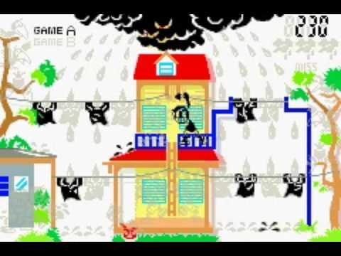 Game & Watch Gallery 4 [GBA] - Rain Shower + Mario Bros. játékmenet (gameplay)