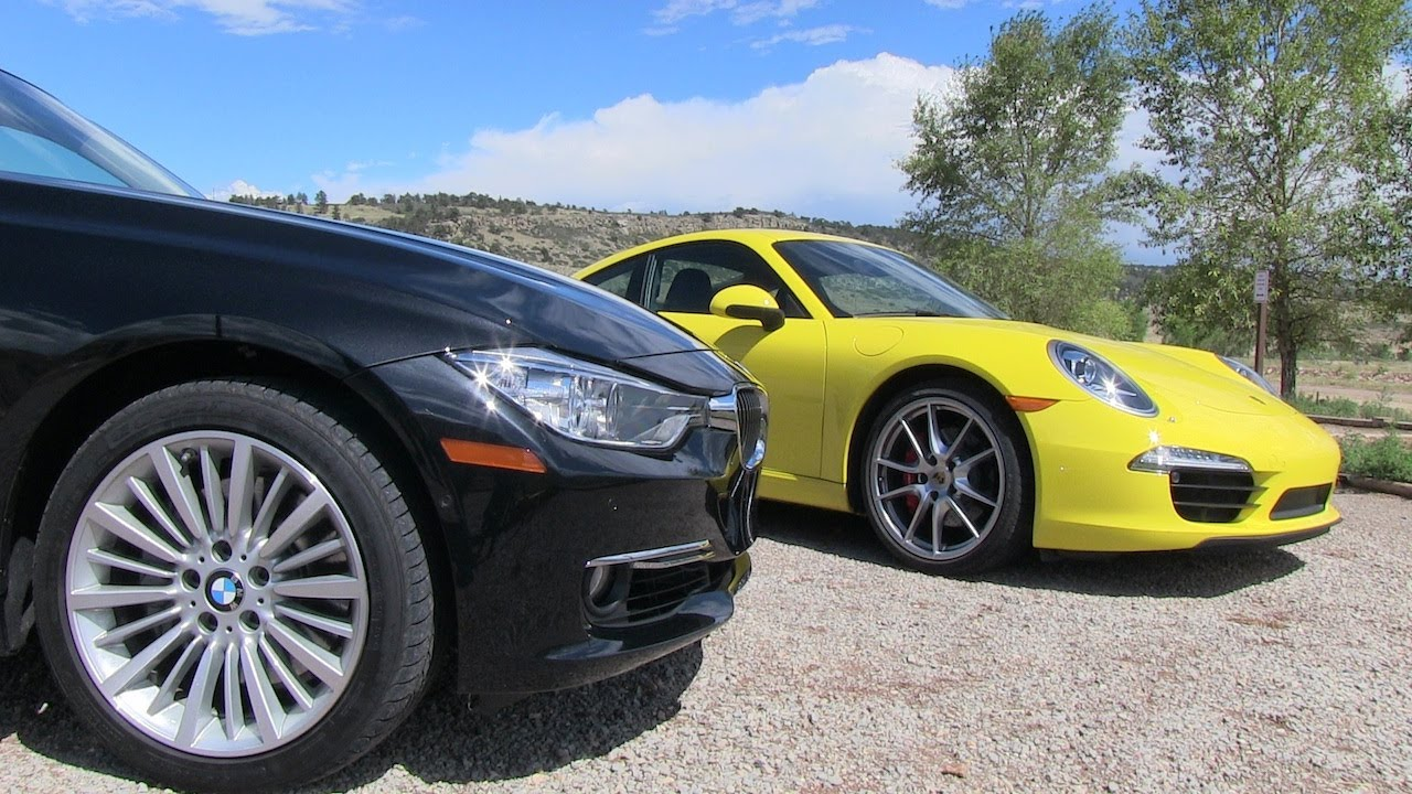 2017 Bmw 335i Vs Porsche 911 Carrera S 0 60 Mph Mile High Mashup Test You