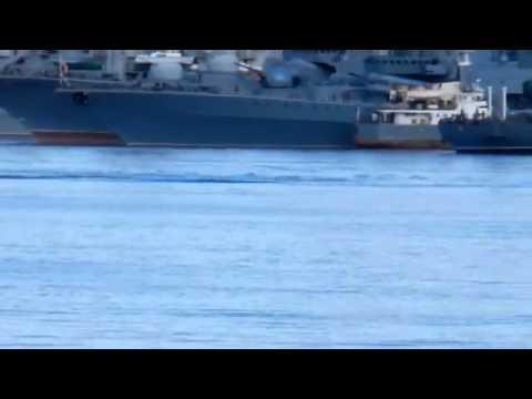 Эффектное всплытие отечественной подводной лодки