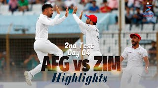 Afghanistan vs Zimbabwe Highlights | 2nd Test | Day 4 | Afghanistan vs Zimbabwe in UAE 2021