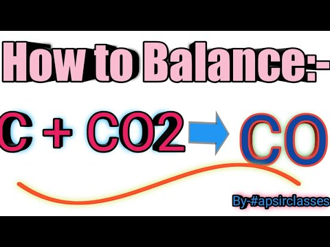 How To Balance C+co2=co//chemistry//By--apsirclasses
