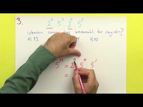 8. Sınıf - üslü Sayılar - şenol Hoca (pratik Bilgilerle) Şenol Hoca Matematik