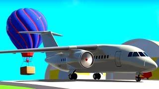 3D Мультик Конструктор: Аэропорт. Собираем новый самолет. Мультики для самых маленьких