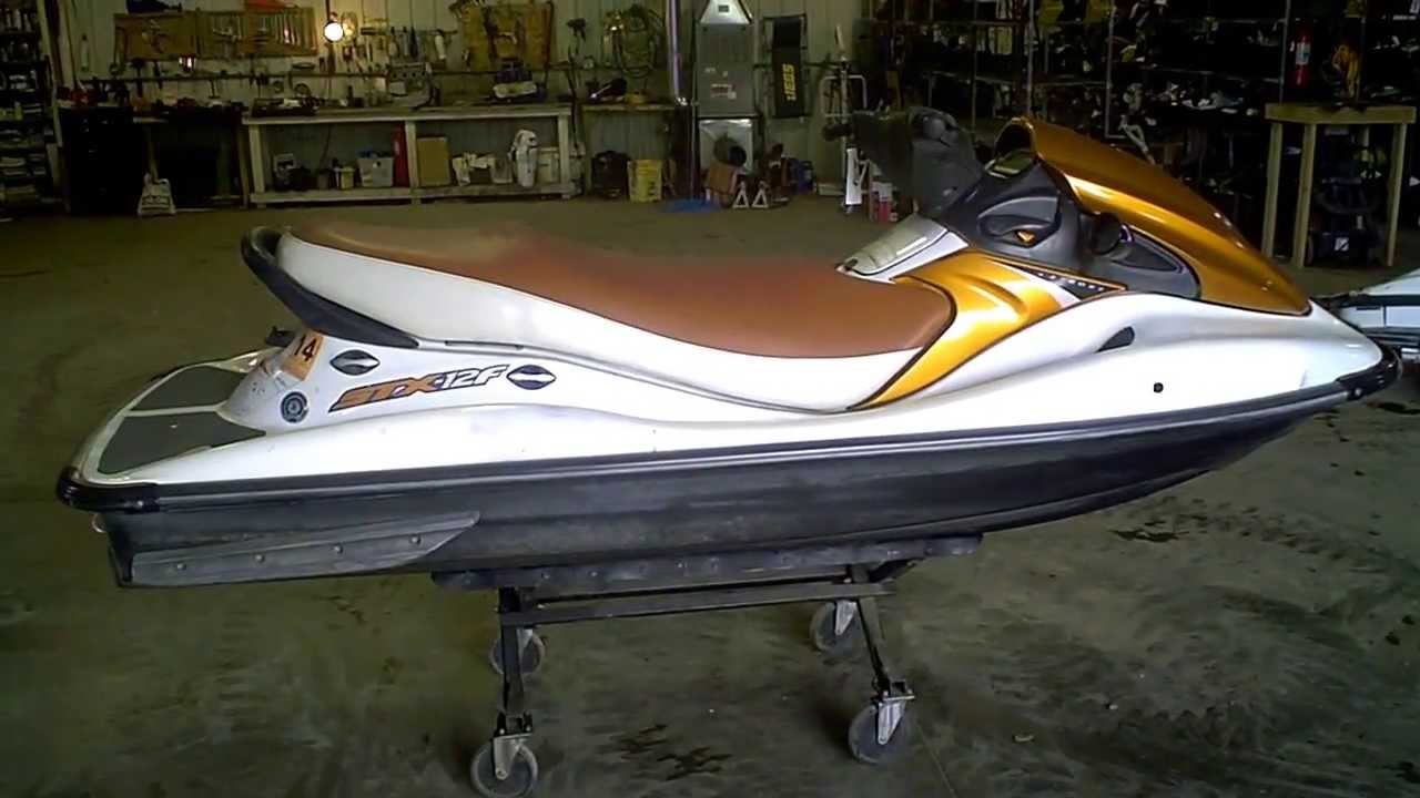 lot 1673a 2005 kawasaki stx-12f 12f four stroke jet ski - youtube