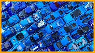 Blue Toy Cars Surprise Bucket Hot Wheels