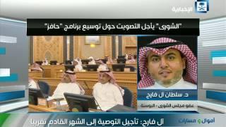 سلطان ال فارح: تم تأجيل التصويت على توسيع برنامج حافز