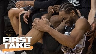 Was Kawhi's Game 1 Injury Result Of Dirty Play By Zaza? | First Take | May 15, 2017
