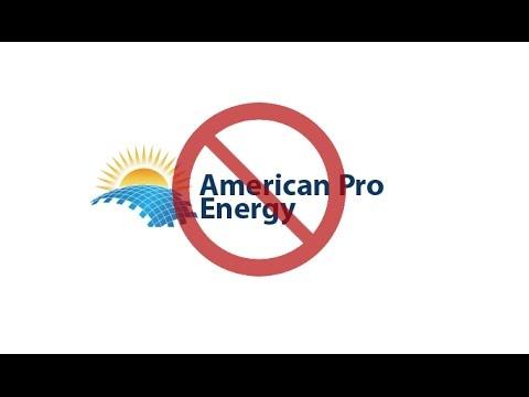 American Pro Solar ILLEGAL Phone Calls...