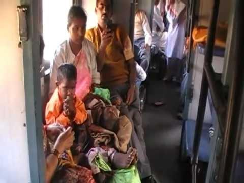 Europeans in Indian train - survival school