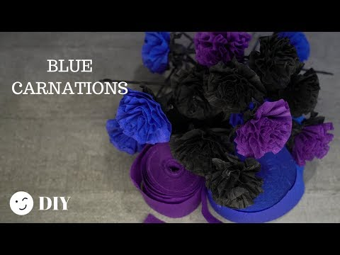 204  Make Paper Flowers Gothic Carnations /Easy Paper Flowers