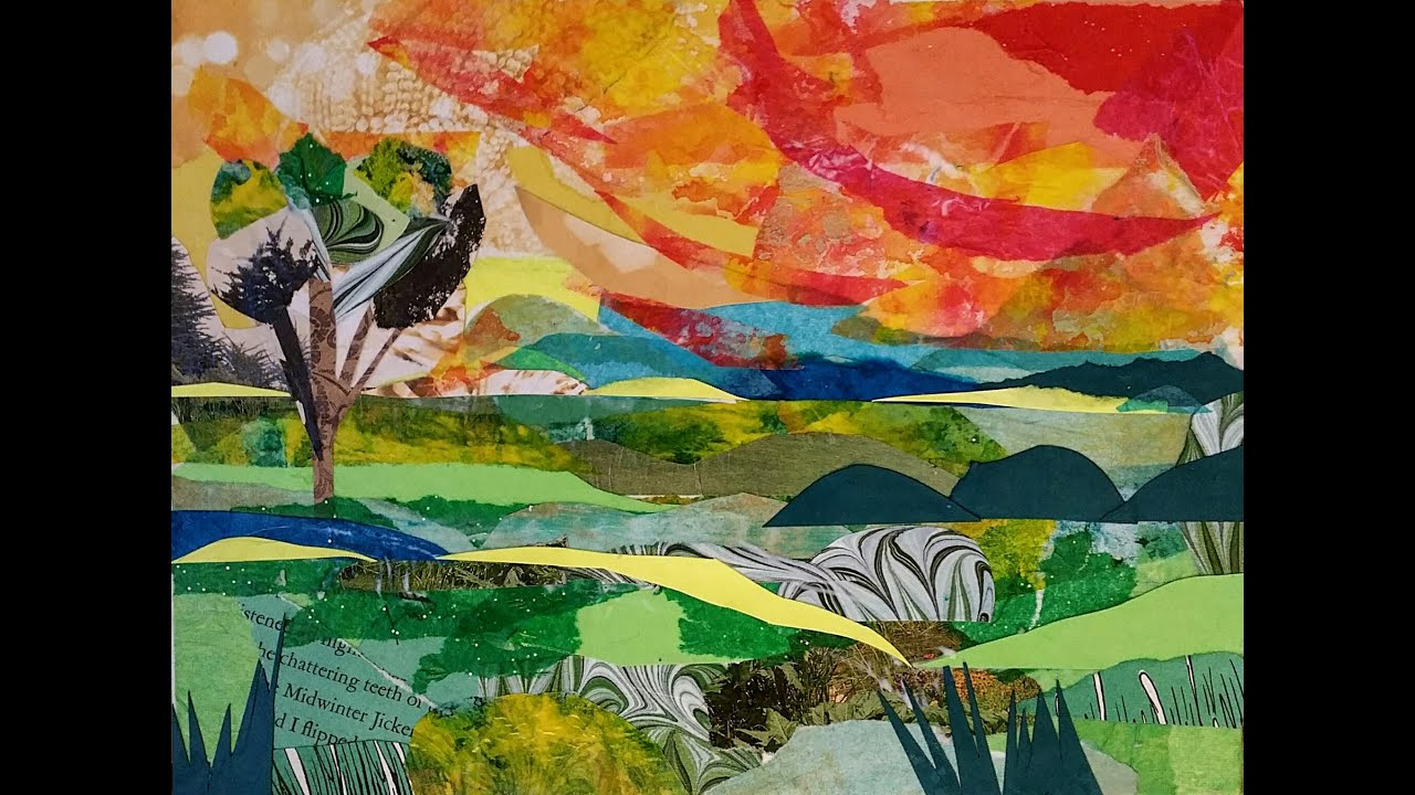 making a landscape collage