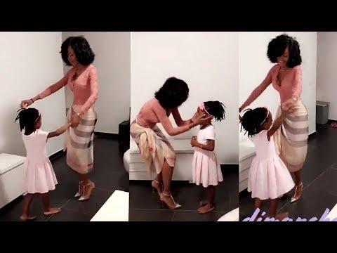 Miss Sery Dorcas danse avec la princesse que c'est mignon 😍