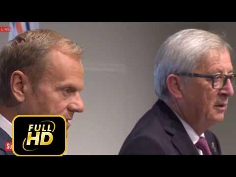 European Union Leaders Press Conference at G20 Summit in Germany, Hamburg 7th July, 2017 UN
