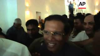 President-elect Sirisena emerges as Rajapaksa concedes defeat in presidential election