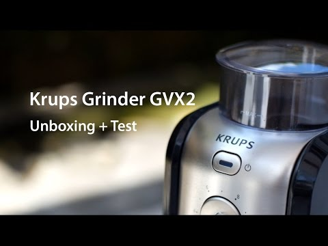 Krups GVX2 - Coffee Grinder (Unboxing + Test)