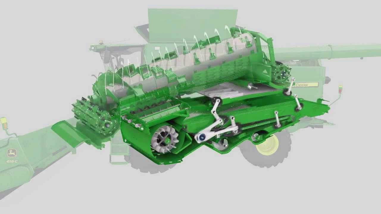 Parts Of A John Deere Combine Harvester Diagram : Crop flow animation youtube