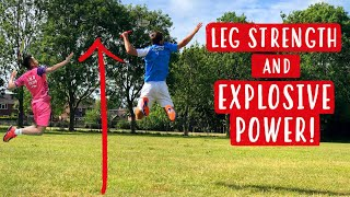 How To Improve LEG STRENGTH + EXPLOSIVE POWER For Badminton Players | At Home Badminton Training