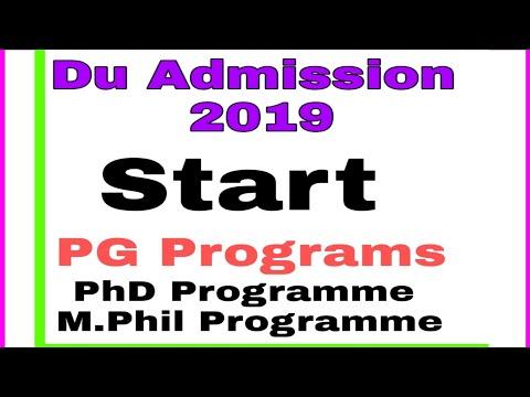 Phd form of du 2019