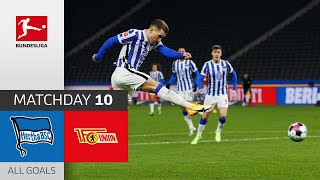 #bscfcu | highlights from matchday 10!► sub now: https://redirect.bundesliga.com/_bwcs watch all goals of hertha berlin vs. union 10 ...