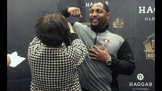 Watch Ray Lewis Get Measured for His Hall of Fame Jacket, Bust and Ring