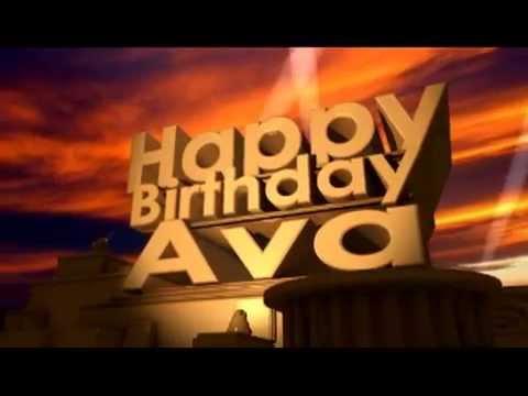 happy birthday ava Happy Birthday Ava   YouTube happy birthday ava